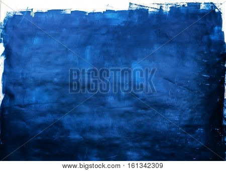 deep blue handmade background, abstract painting