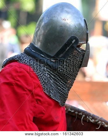 Medieval Knight Before Battle