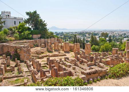 Carthage - ancient civilization ruins in Africa, Tunisia