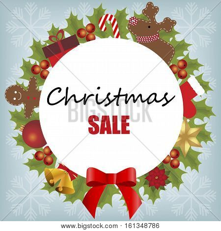 Christmas sale design template baby frame background Christmas. vector illustration