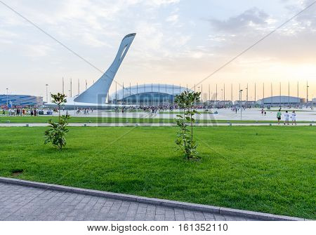 Russia Sochi - July 13 2014. Olympic Park in Adler