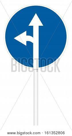Prescriptive Traffic Sign - Direct And Left Motion