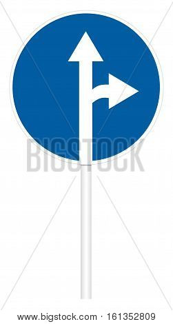 Prescriptive Traffic Sign - Direct And Right Motion