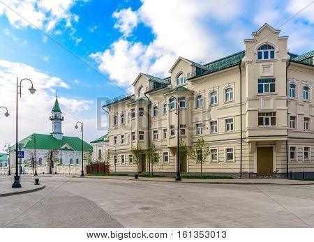 Old houses in the Old Tatar sloboda in Kazan Russia