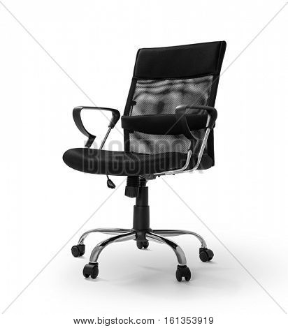 Office chair on white background -Clipping Path