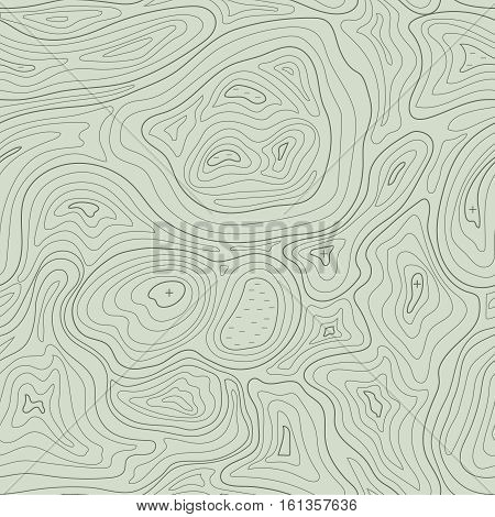 Earth relief map seamless pattern element. Generated conceptual elevation vector illustration .