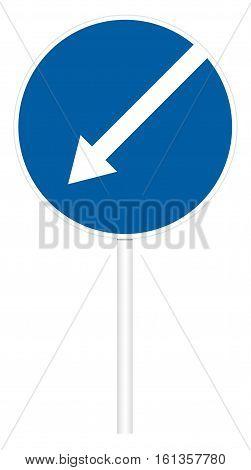 Prescriptive Traffic Sign - Direct Left