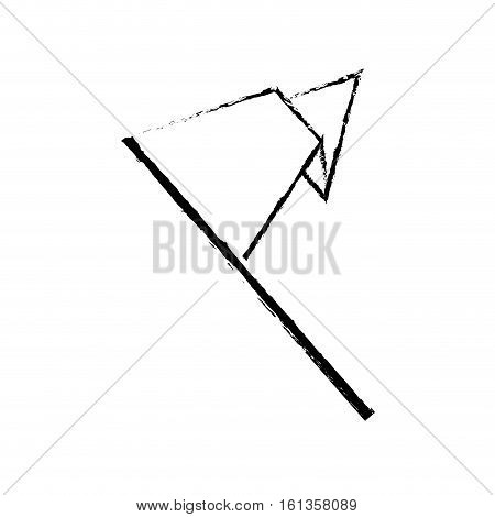 isolated pennant flag icon vector illustration graphic design