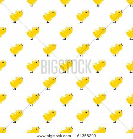 Seamless pattern with yellow chickens. Baby background. Rooster symbol New Year 2017.