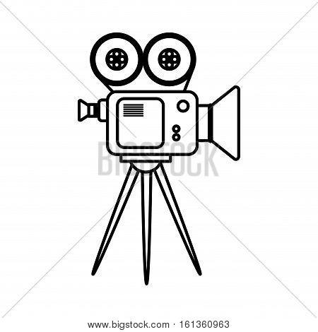 Cinema camcorder equipment icon vector illustration graphic design
