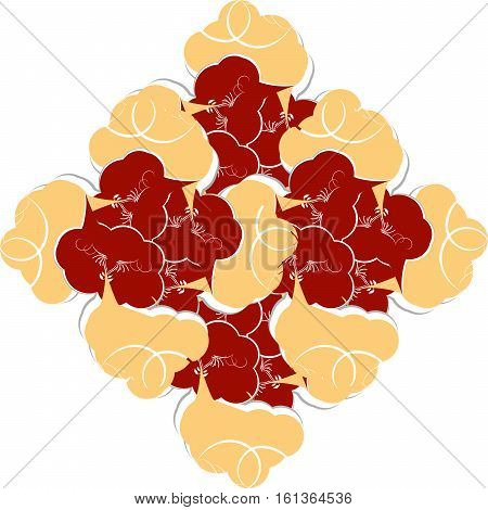 Decoration vintage element. Floral style. abstract background