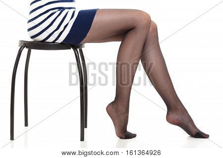Beautiful Legs Of Slim Girl