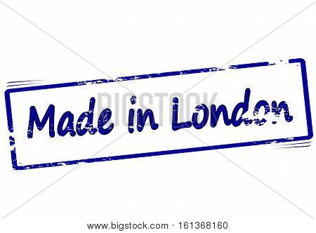 Stamp with text made in London inside vector illustration