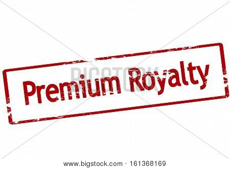 Stamp with text premium royalty inside vector illustration