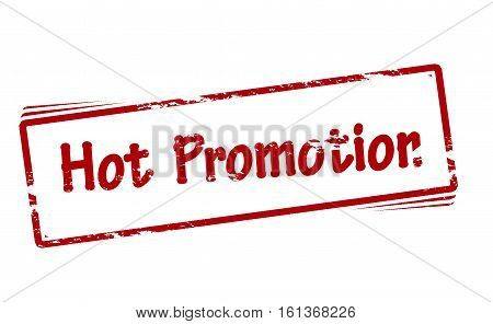 Stamp with text hot promotion inside vector illustration
