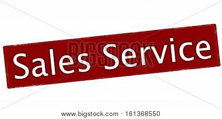Stamp with text sales service inside vector illustration