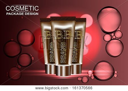 sunproof blemish balm contained in two golden tubes, golden background, 3d illustration