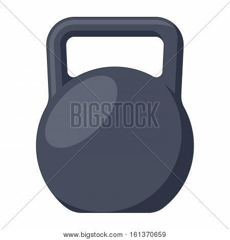 Black kettlebell vector illustration in flat style