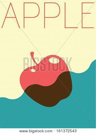 Vector Minimal Design Poster  - Apple Illustration
