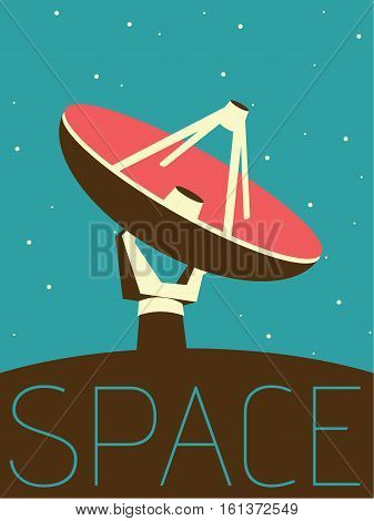 Vector Minimal Design Poster - Space Antenne