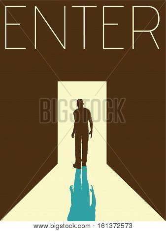 Vector Minimal Design Poster - Enter Illustration