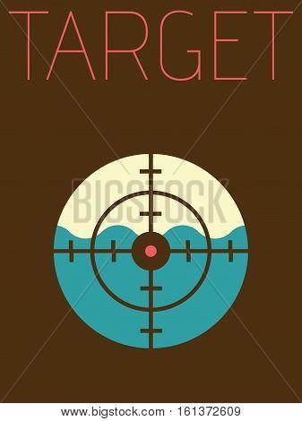 Vector Minimal Design Poster - Target Object