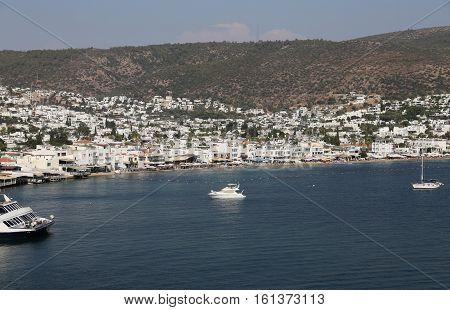 Bodrum Town In Aegean Coast Of Turkey