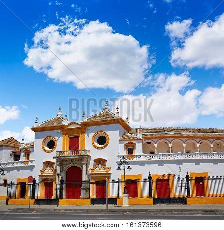 Seville Real Maestranza bullring plaza toros de Sevilla in andalusia Spain