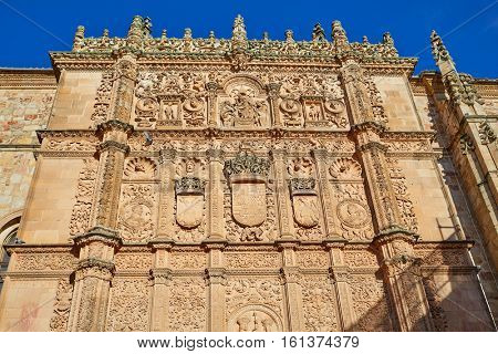 Universidad de Salamanca University facade in Spain exterior image shot from public floor