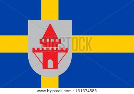 Flag of Nykoping is a locality and the seat of Nykoping Municipality Sodermanland County Sweden