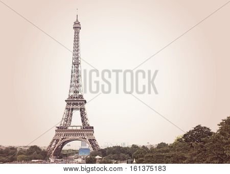 Eiffel Tower and Champs de Mars in Paris