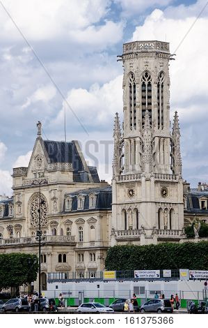 France, Paris - July 30, 2014: The Church Of Saint Germain L'oserua (church Of St. Herman (germain)