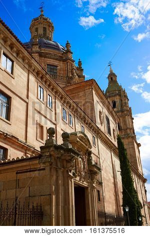 Universidad Pontificia university in Salamanca of Spain exterior image shot from public floor