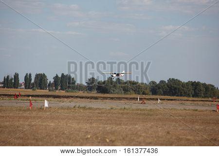 small light sports aircraft at the air
