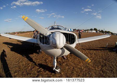 small light vip aircraft on the ground