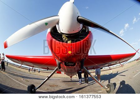 small light sport aircraft on the ground