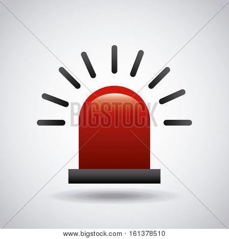 siren image icon over white background. colorful design. vector illustration