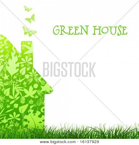 green house nature ecology architecture on white background
