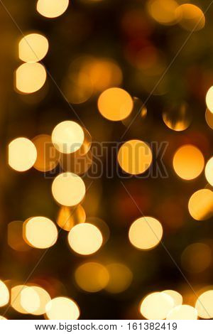 Defocused holiday christmas tree lights