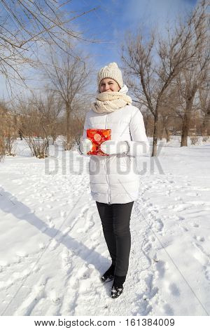 The Girl's Portrait In The Winter In The Park