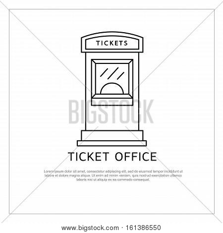 Ticket office vector icon isolated on background. Ticket office logo and vector illustration for cinema theatre concert ballet and opera.
