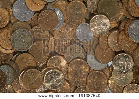 Petty russian cash coins of different denomination kopiyka