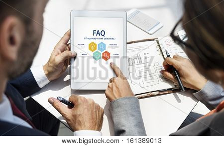 Customer Service FAQs Illustration Concept