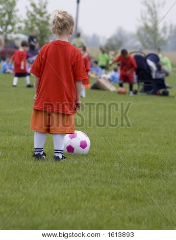 Young Girl Soccer Player