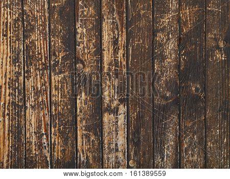Old Vintage Dark Stains Wooden Planks Background