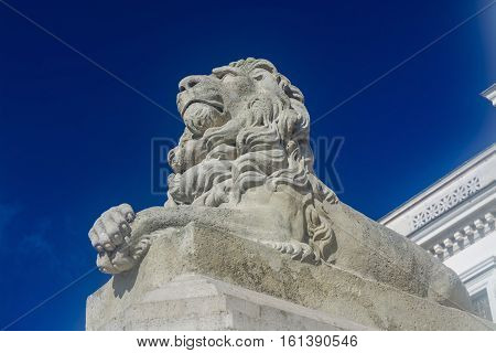 Guarding Lion At The Museum