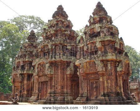 Three Stupa Khmer, Preah Ko, Angkor Temples, Cambodgia