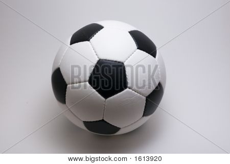 Soccer Ball On White Backround