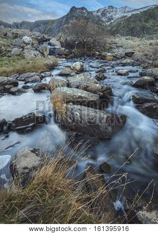Mountain Creek in Cwm Idwal Snowdonia North Wales