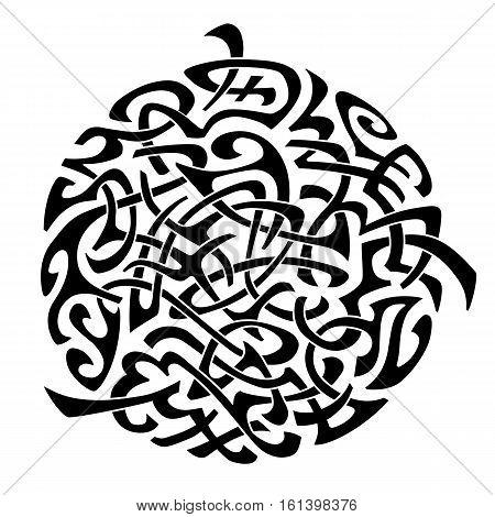 Abstract Maori styled tribal ornament tattoo pattern